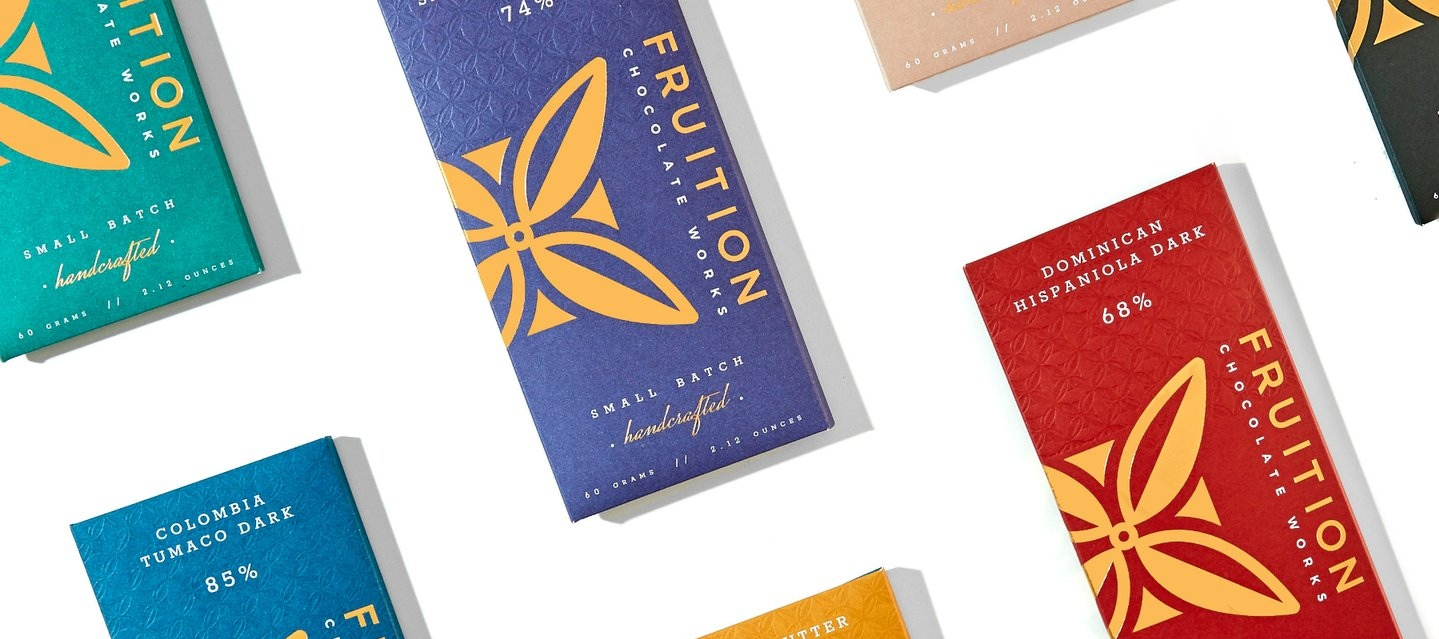 Fine chocolate bars from Fruition Chocolate Works