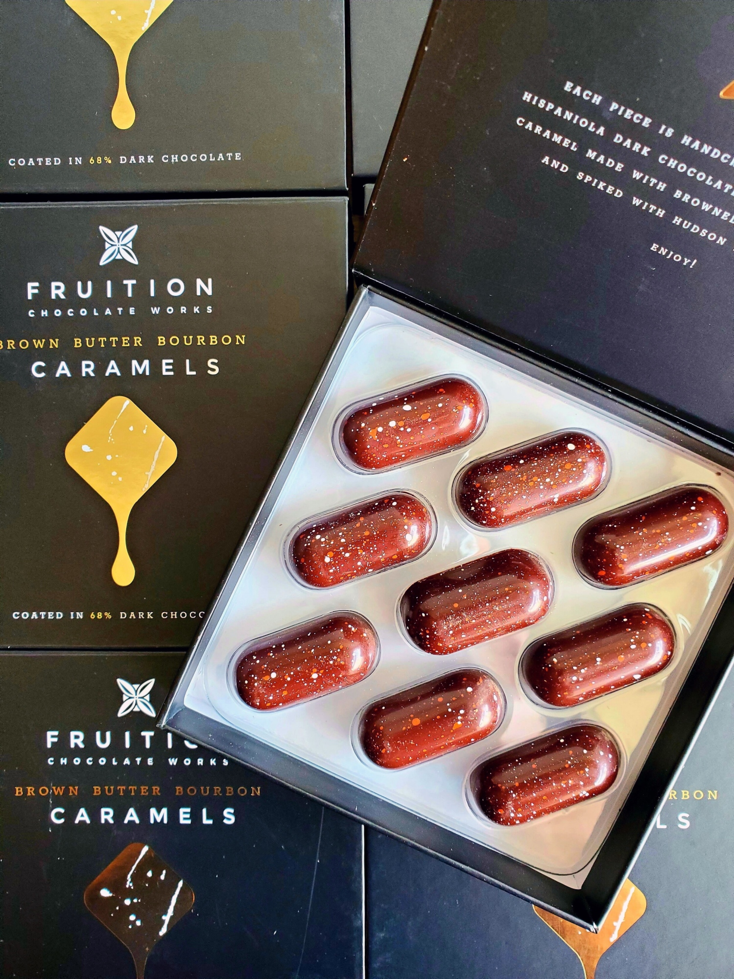 Brown Butter Bourbon Caramels from Fruition Chocolate Works